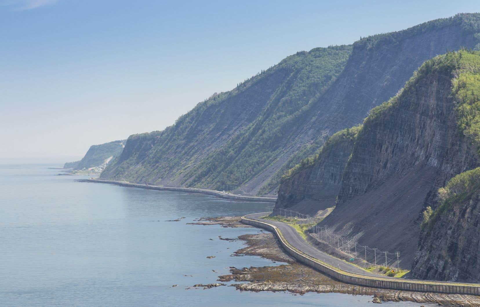 Le long de la route 132, en Haute-Gaspésie