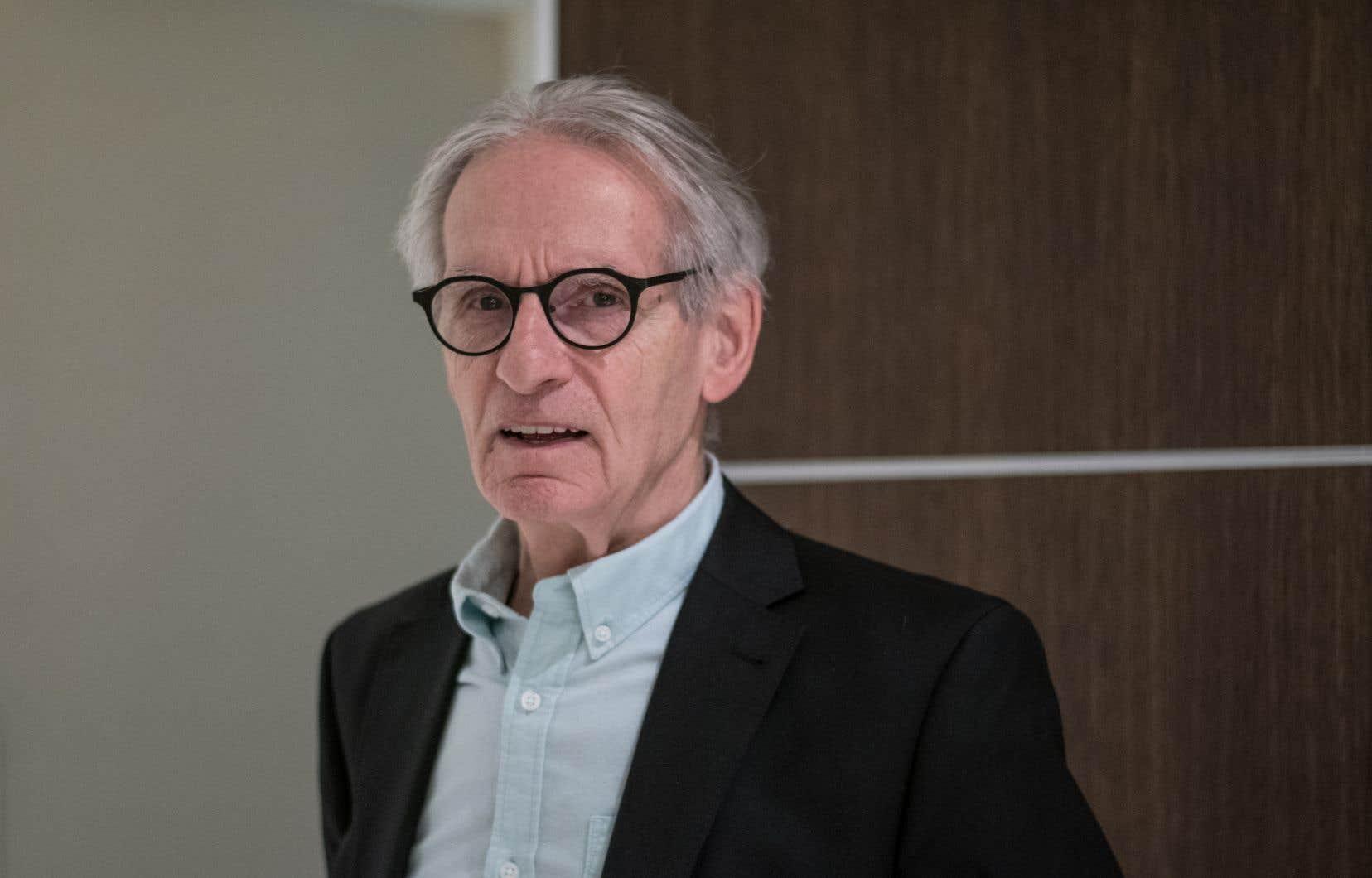 Gérard Bouchard pour la sortie de son livre «Les nations savent-elles encore rêver?», à Montreal le 8 octobre 2019.