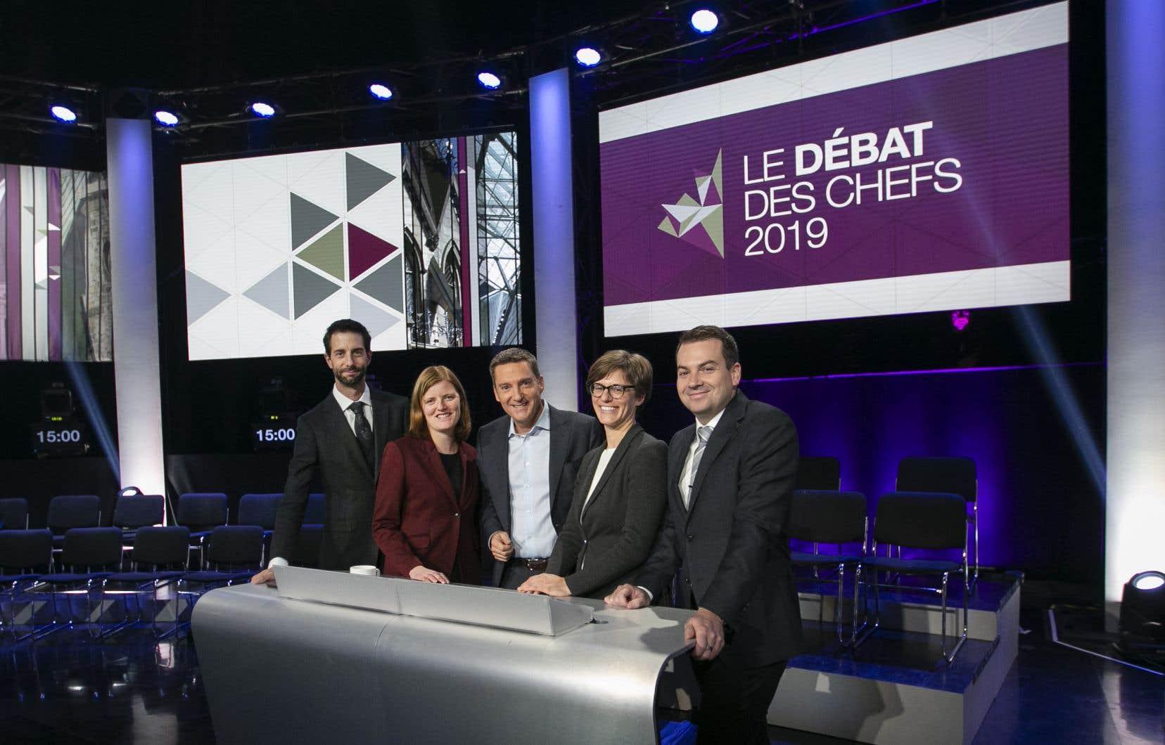 Préparation du débat des chefs qui aura lieu demain, jeudi le 10 octobre 2019. Le débat des chefs sera enregistré devant public au Musée canadien de l'Histoire à Gatineau.