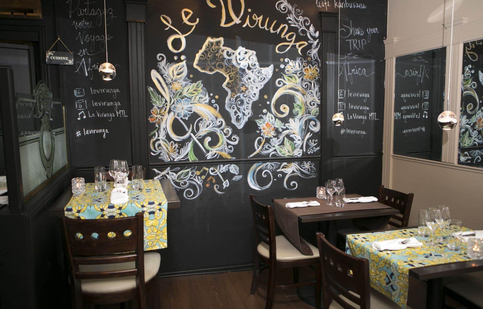 Un joli petit restaurant que deux Congolaises ont ouvert sur la rue Rachel à Montréal.
