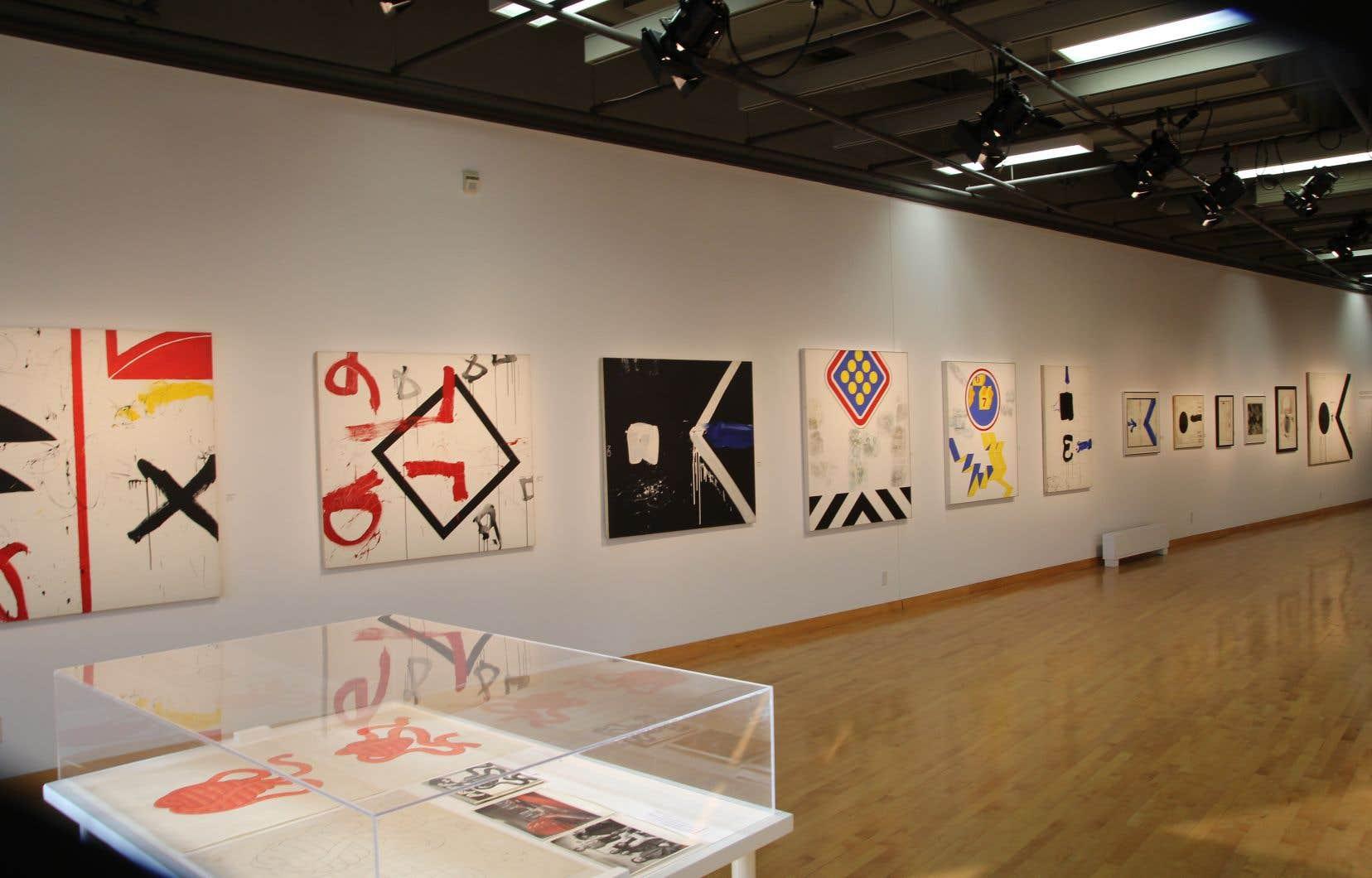 Vue de l'exposition «Gilles Boisvert et Serge Lemoyne, l'influence de New York dans les années 60»