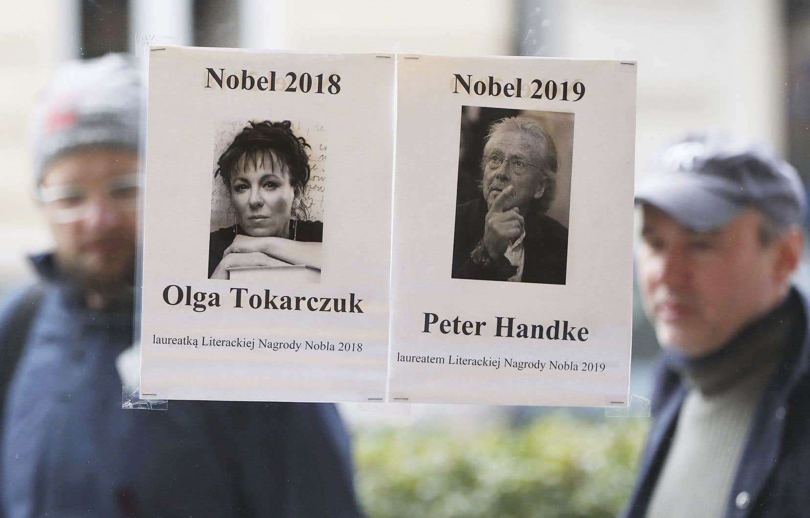 Olga Tokarczuk et Peter Handke, Prix Nobel de littérature