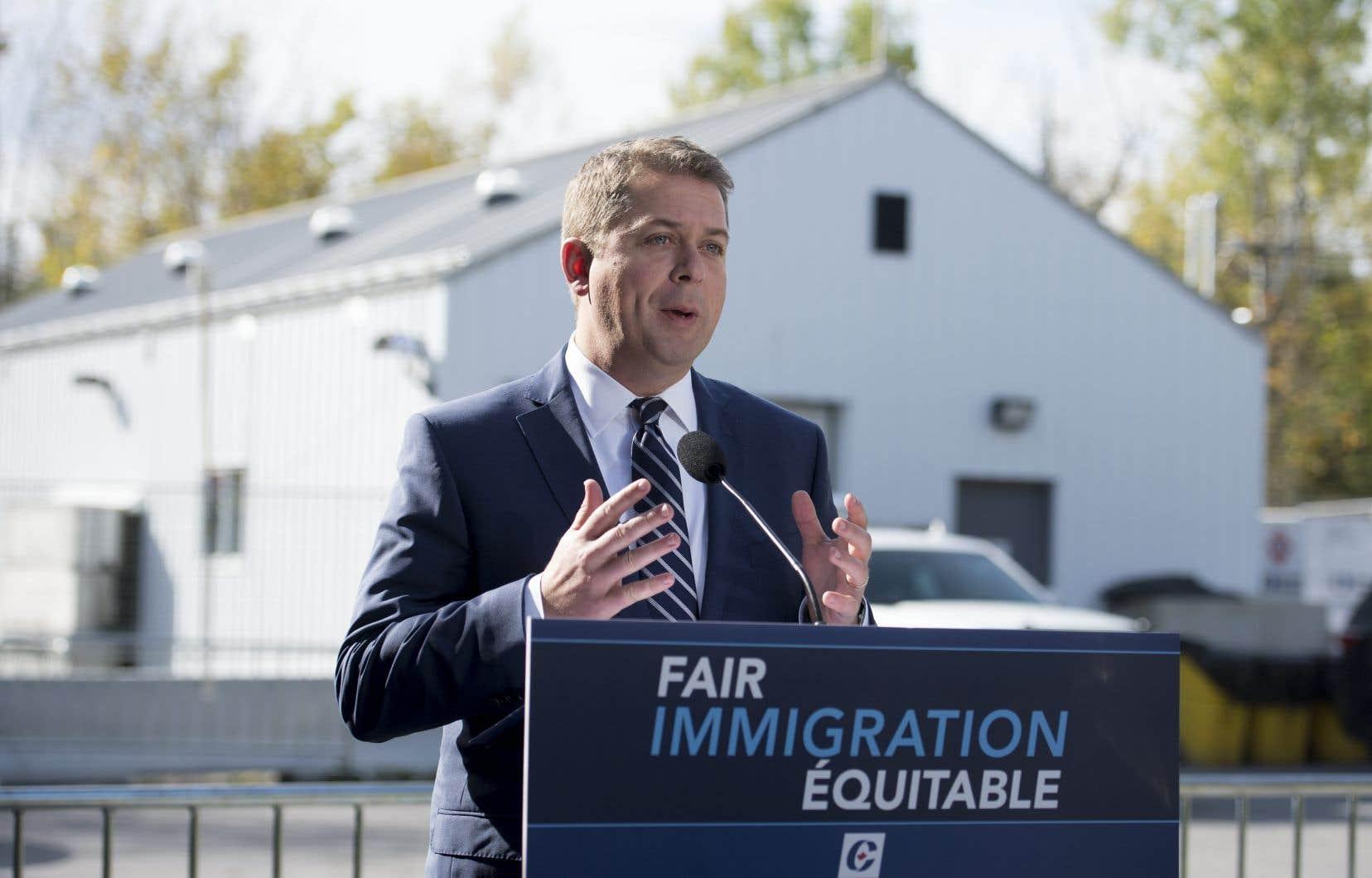 Plus tôt cette semaine Andrew Scheer présentait son plan à la frontière canado-américaine.
