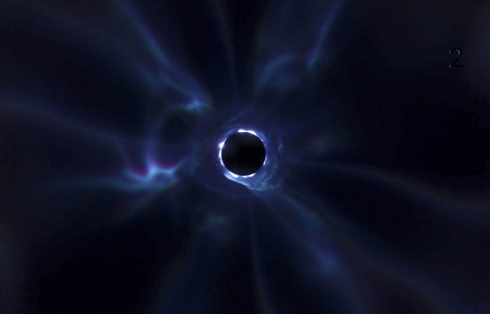 Plusieurs joueurs ont posté des vidéos montrant l'univers Fortnite progressivement aspiré par le trou noir, qui a mis fin à leur partie.