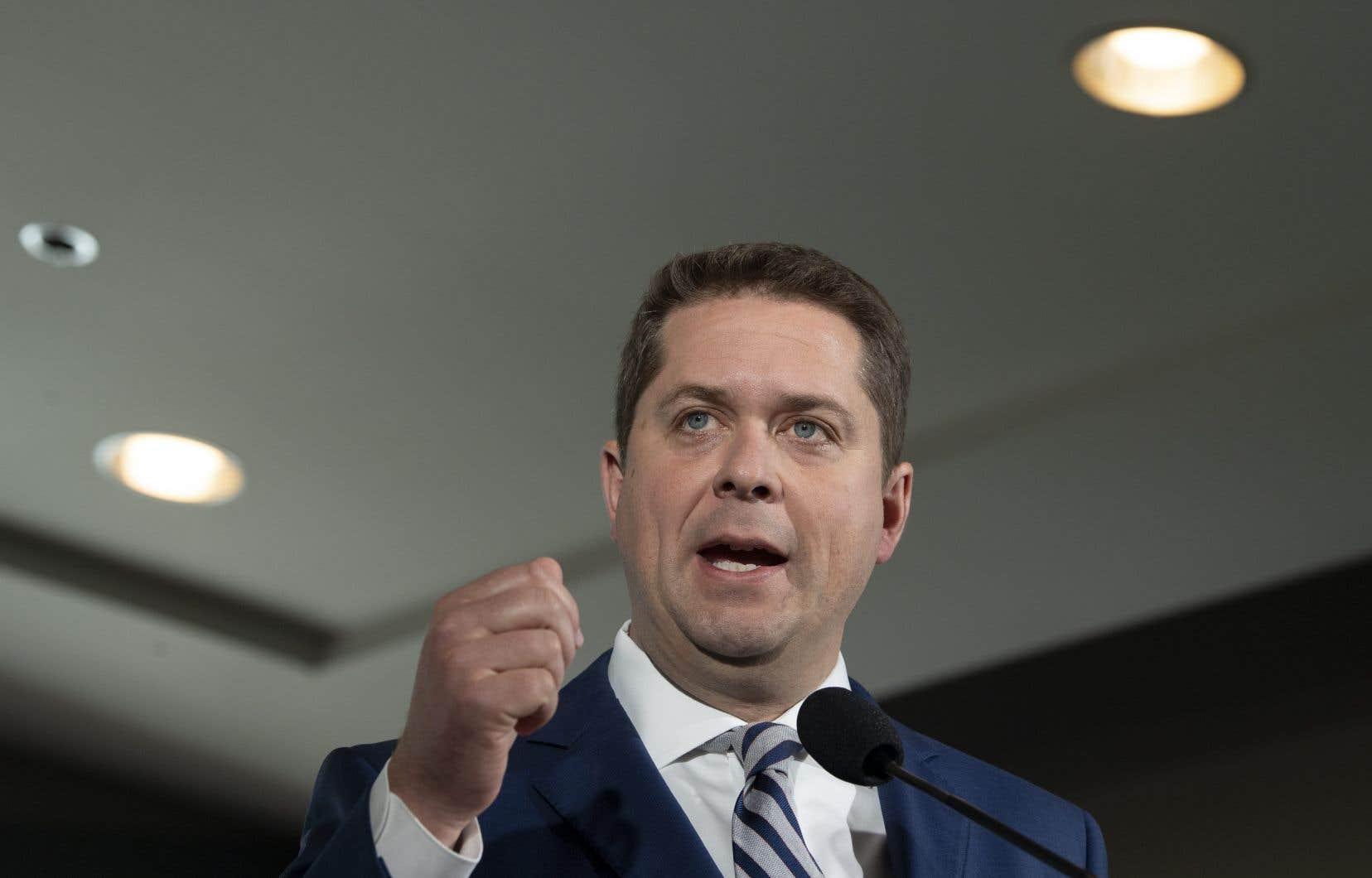 Le chef du Parti conservateur, Andrew Scheer, à Winnipeg lundi