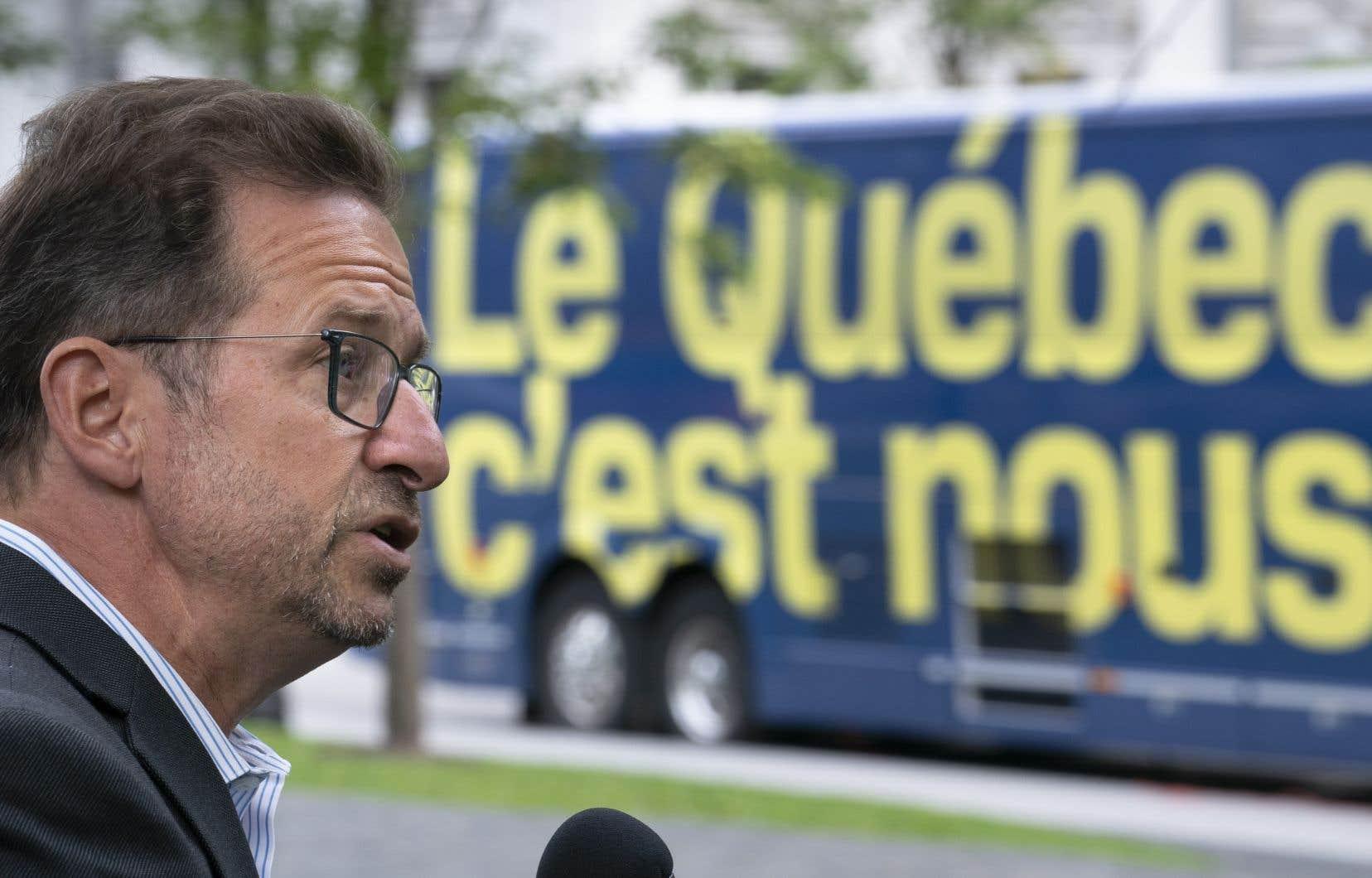 La grande région de Québec pourrait tomber aux mains du Bloc québécois, estime le chef de la formation politique, Yves-François Blanchet.