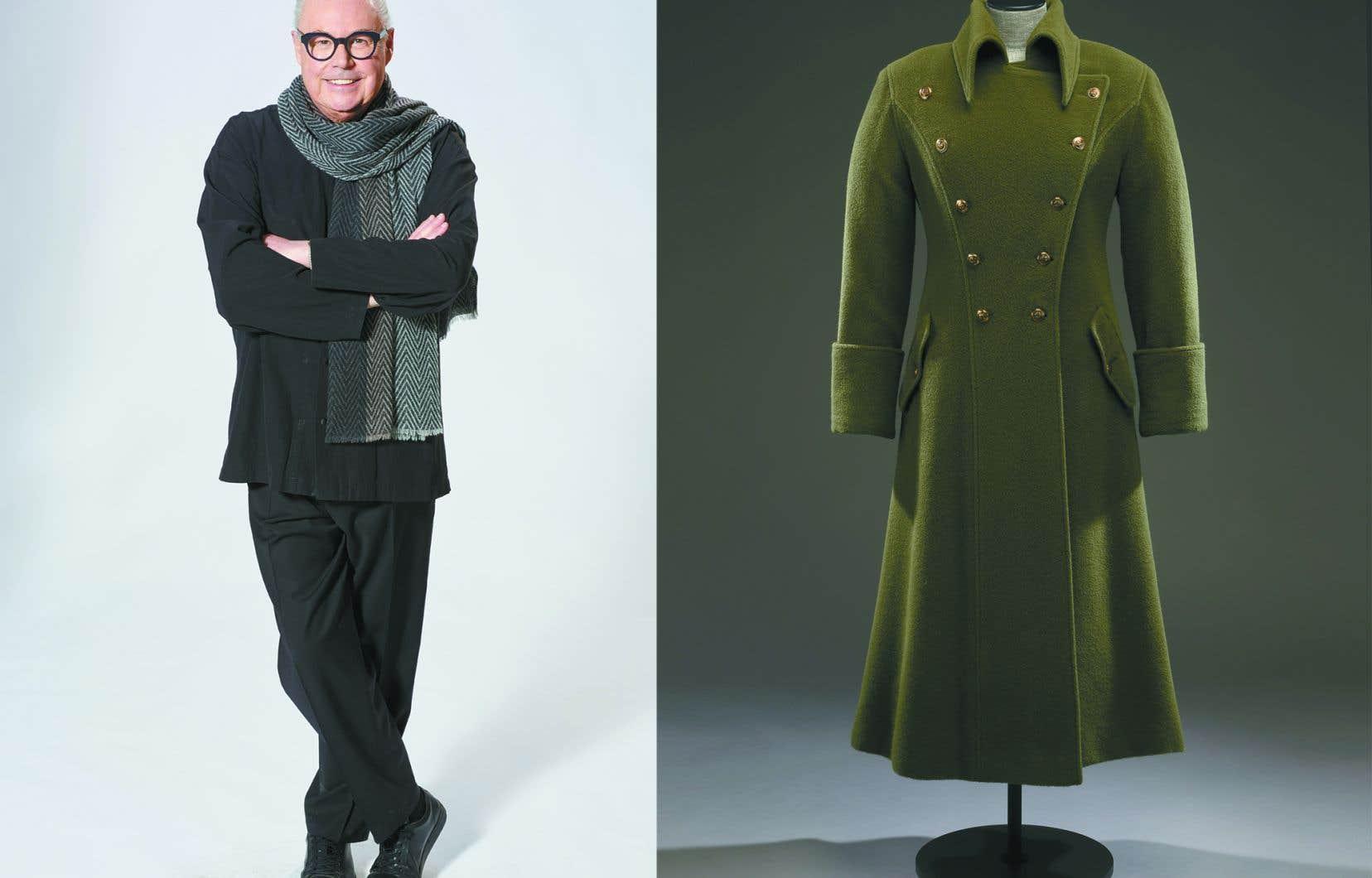 L'exposition plonge au cœur de l'univers du designer Jean-Claude Poitras (à gauche) et permet au visiteur de découvrir ses créations emblématiques.