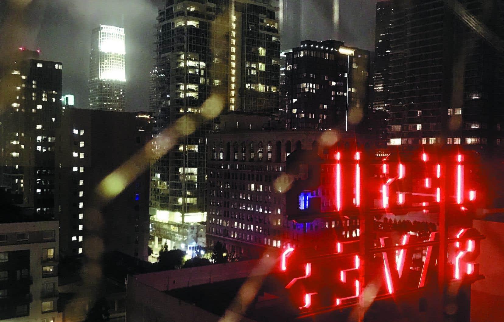 La vue depuis la terrasse sur le toit de l'hôtel ACE