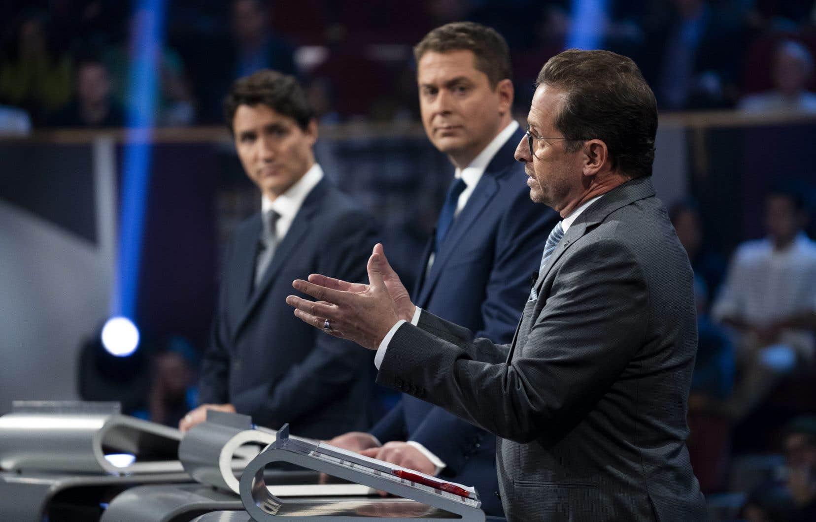 L'élan dont bénéficie le Bloc québécois dans la province ne réjouit pas MM. Scheer et Trudeau.