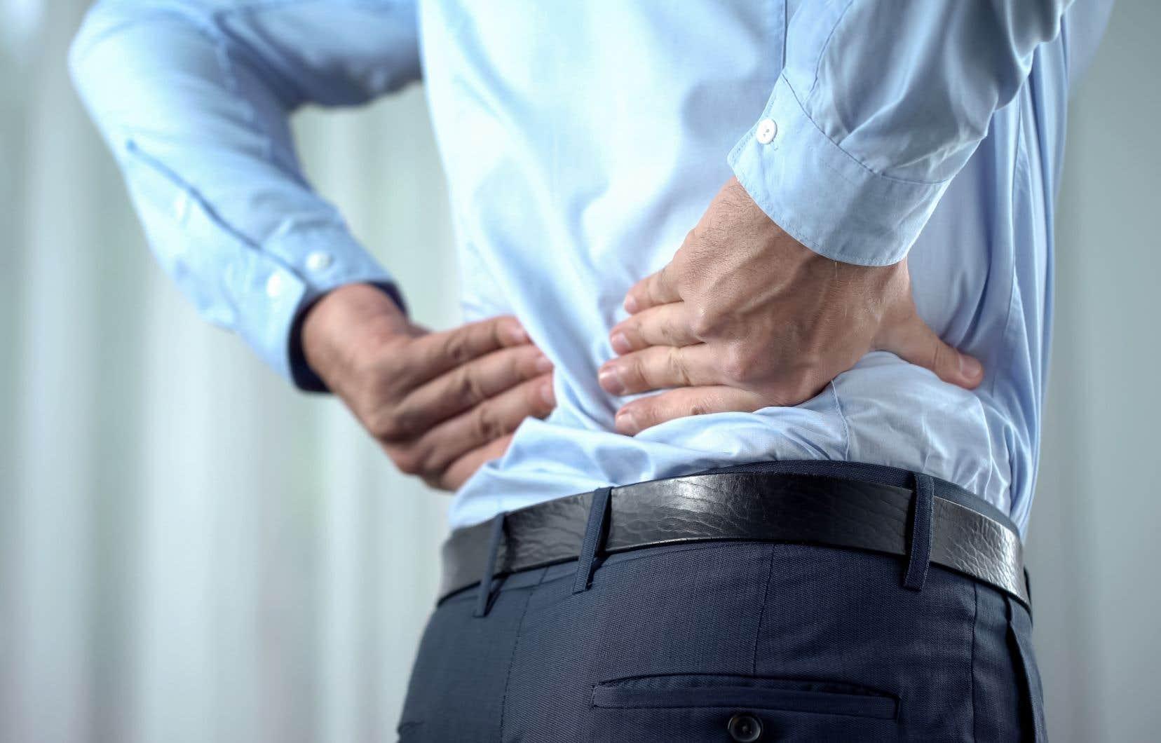 Au Québec, une étude du ministère de la Santé et des Services sociaux révèle qu'en 2014-2015, 14% des travailleurs de 15ans et plus souffraient de troubles musculo-squelettiques au dos.