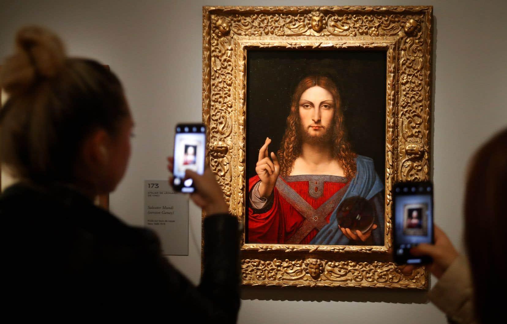 Le célèbre Salvator Mundi n'est pas au rendez-vous, mais des copies de l'oeuvre effectuées par certains des élèves de Léonard de Vinci le sont.