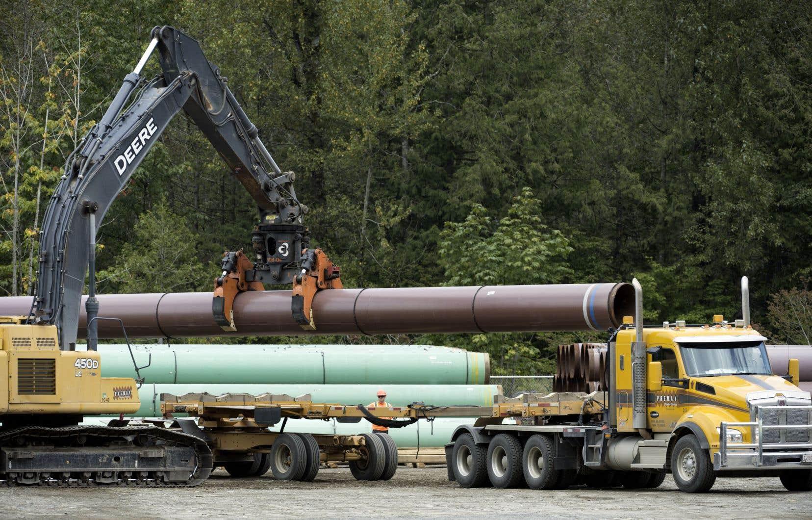 Les travaux d'élargissement du pipeline Trans Mountain devraient être terminés d'ici le milieu de 2022.
