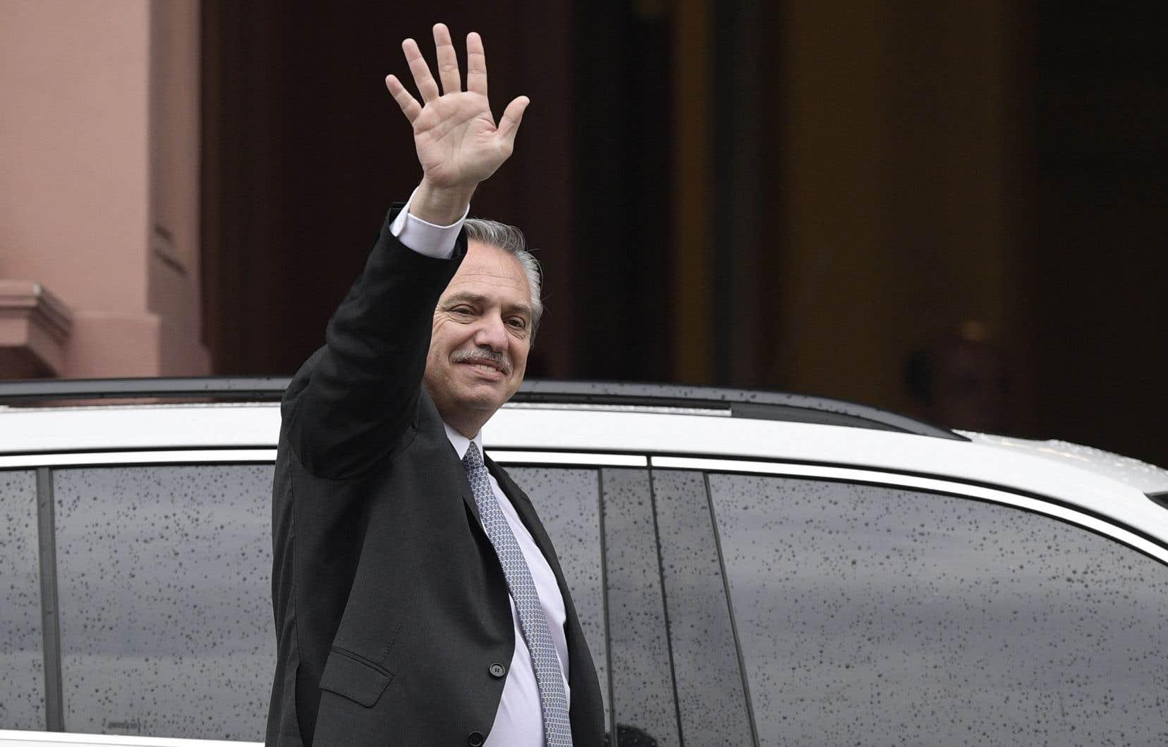 Le nouveau président élu de l'Argentine, Alberto Fernandez