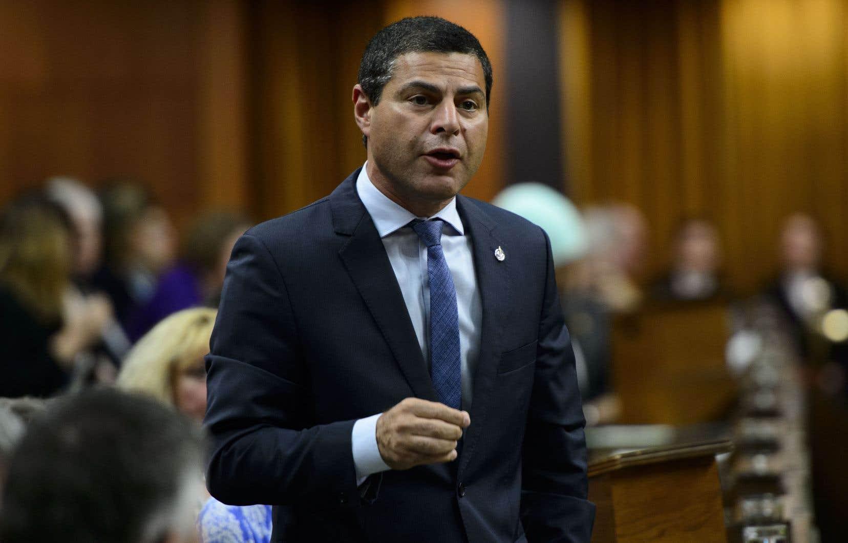 Le lieutenant politique québécois du parti conservateur et député de Richmond-Arthabaska, Alain Rayes