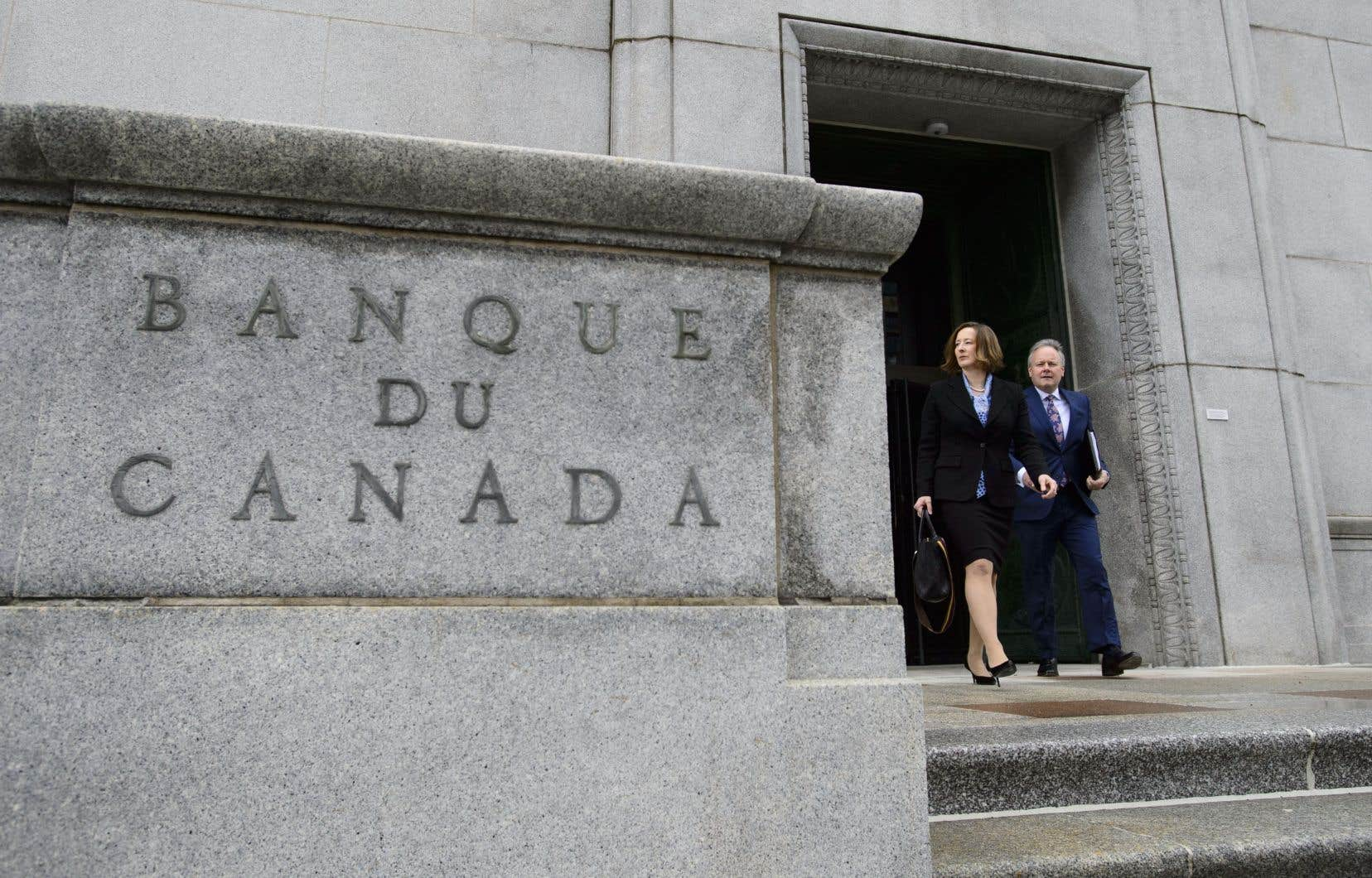 Stephen Poloz, gouverneur de la Banque du Canada, et la vice-gouverneure, Carolyn Wilkins