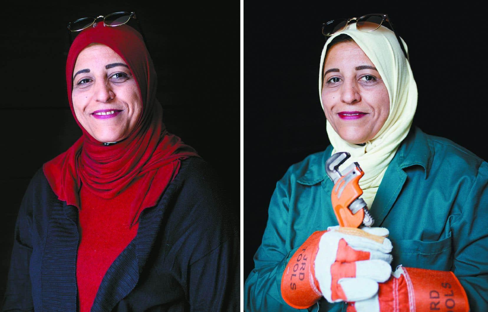 Mariam fait partie des participantes au projet AWANE. Habitante de Zarqa, en Jordanie, cette mère de trois enfants exerce la plomberie depuis six ans. Oxfam lui a apporté du soutien afin qu'elle puisse démarrer son entreprise et former d'autres femmes à la plomberie dans son quartier.