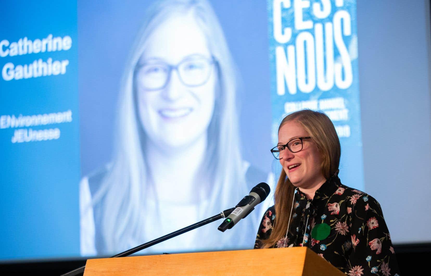 «Jusqu'à maintenant, le gouvernement canadien n'a jamais respecté ses engagements, il a toujours raté ses cibles de réduction des gaz à effet de serre et son objectif actuel est inadéquat», répond Catherine Gauthier.