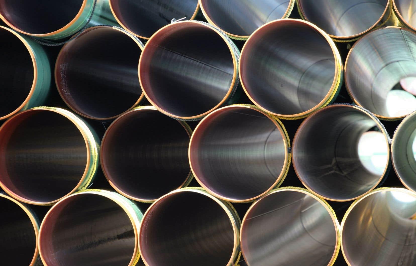 <p>Le futur gazoduc de 780 kilomètrestraversera l'Abitibi, avant de se rendre au Saguenay. Il servira à transporter le gaz naturel albertain qui sera liquéfié à l'usine Énergie Saguenay, de GNLQuébec.</p>