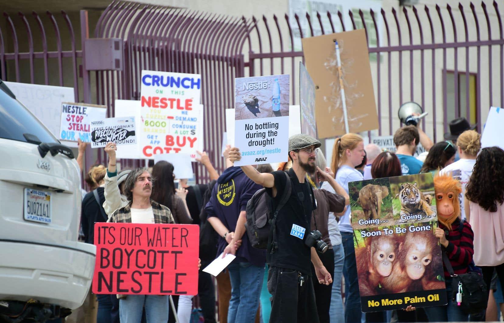 La propension de Nestlé à s'approprier les ressources naturelles à vil prix constitue l'une des charpentes de l'essai.