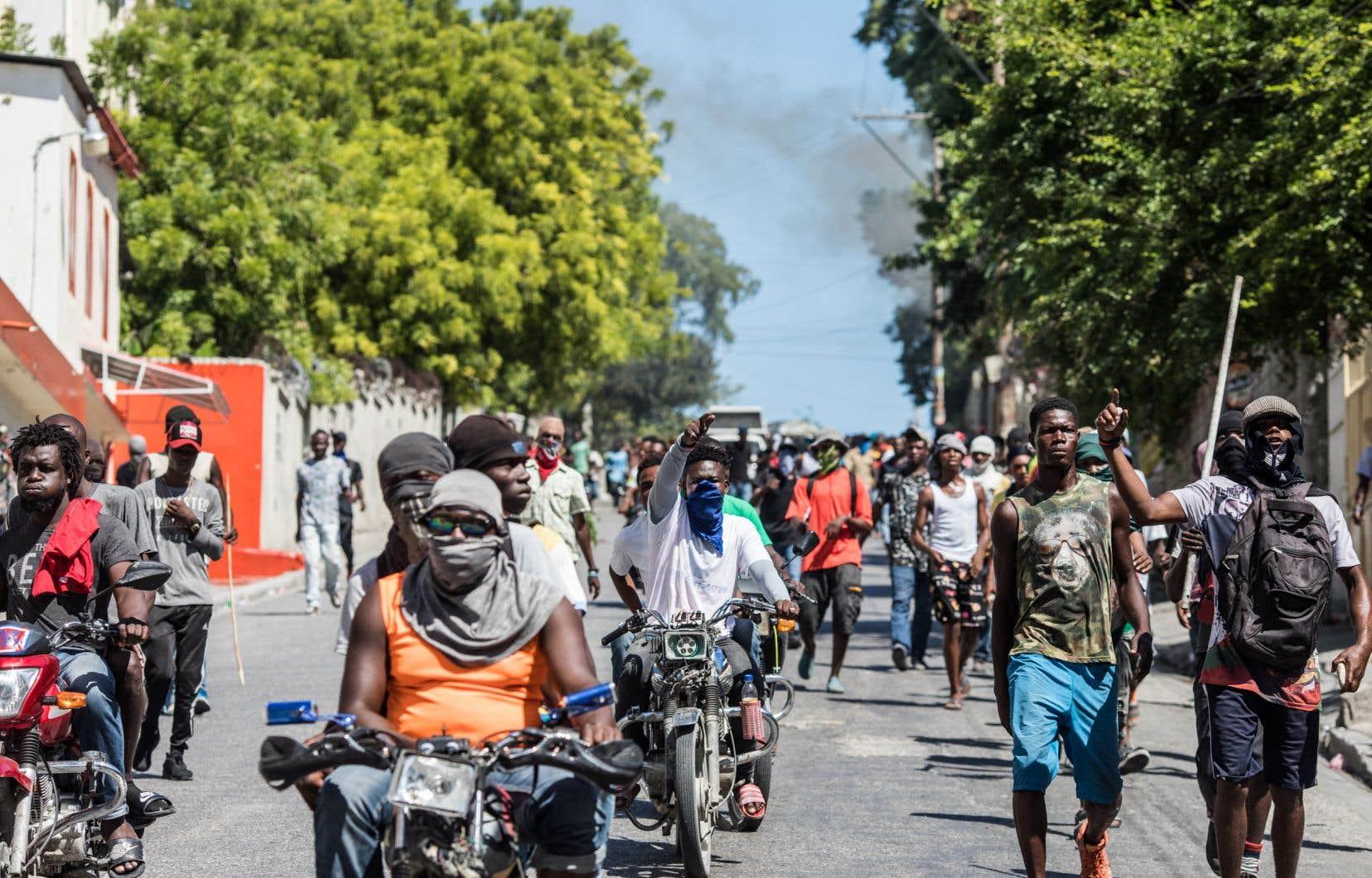 La colère populaire contre le président Jovenel Moïs s'est accentuée fin août à la suite d'une pénurie de carburants généralisée en Haïti.