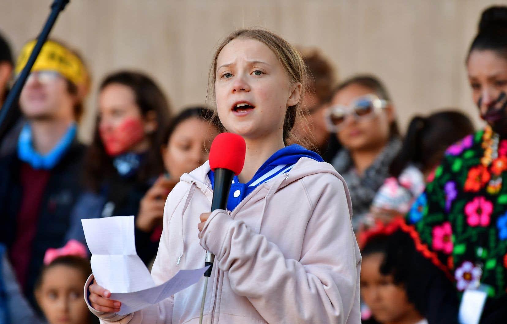 Greta Thunberg a participé en septembre au sommet de l'ONU sur le climat à New York, puis a traversé les États-Unis et le Canada.