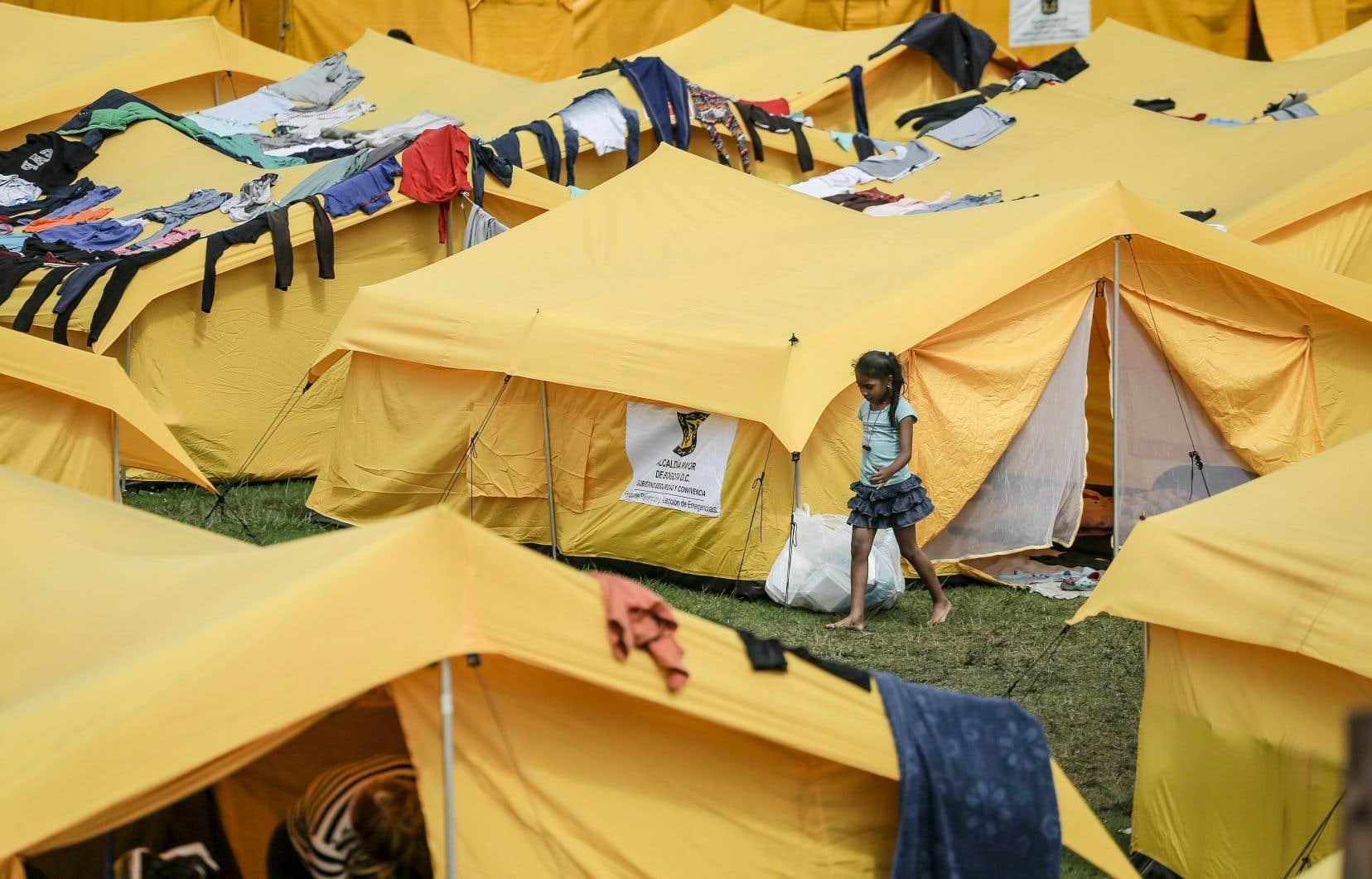 Un camp de réfugiés à Bogotá, en Colombie. Quelque 4,5 millions de Vénézueliens ont quitté leur pays.