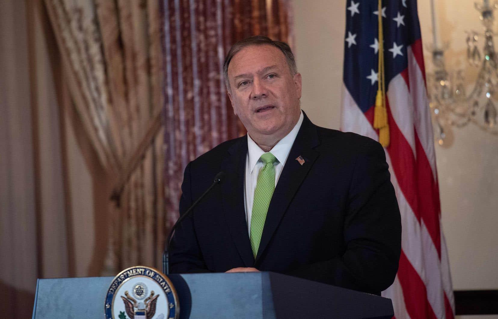 Le chef de la diplomatie américaine, le secrétaire d'État Mike Pompeo