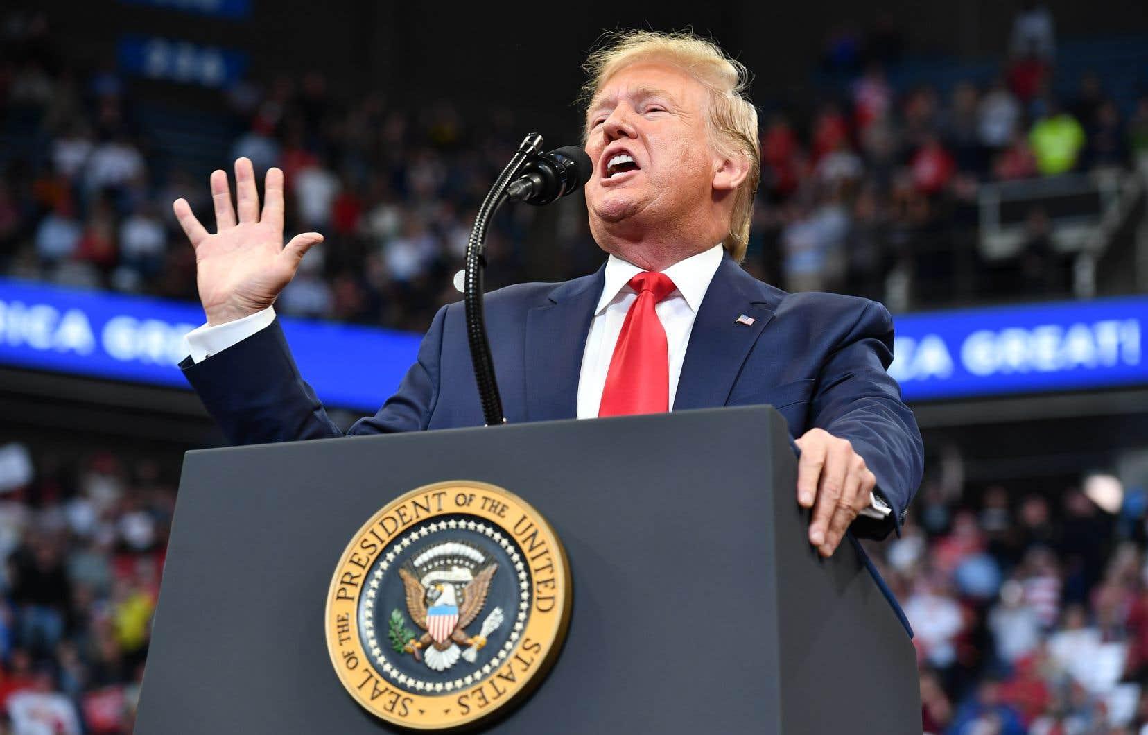 Le président américain Donald Trump, lors d'un rassemblement partisan au Kentucky le 4 novembre dernier