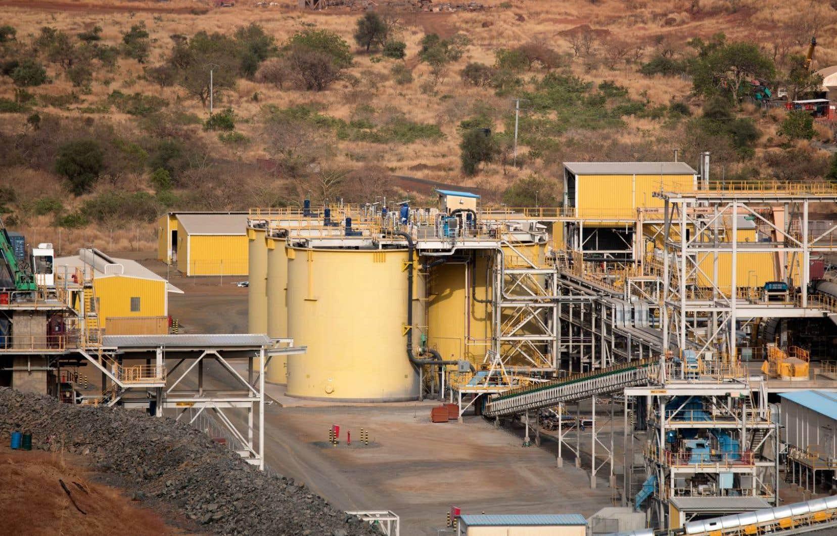 Le convoi a été attaqué à environ 40 kilomètres de la mine Boungou (photo).