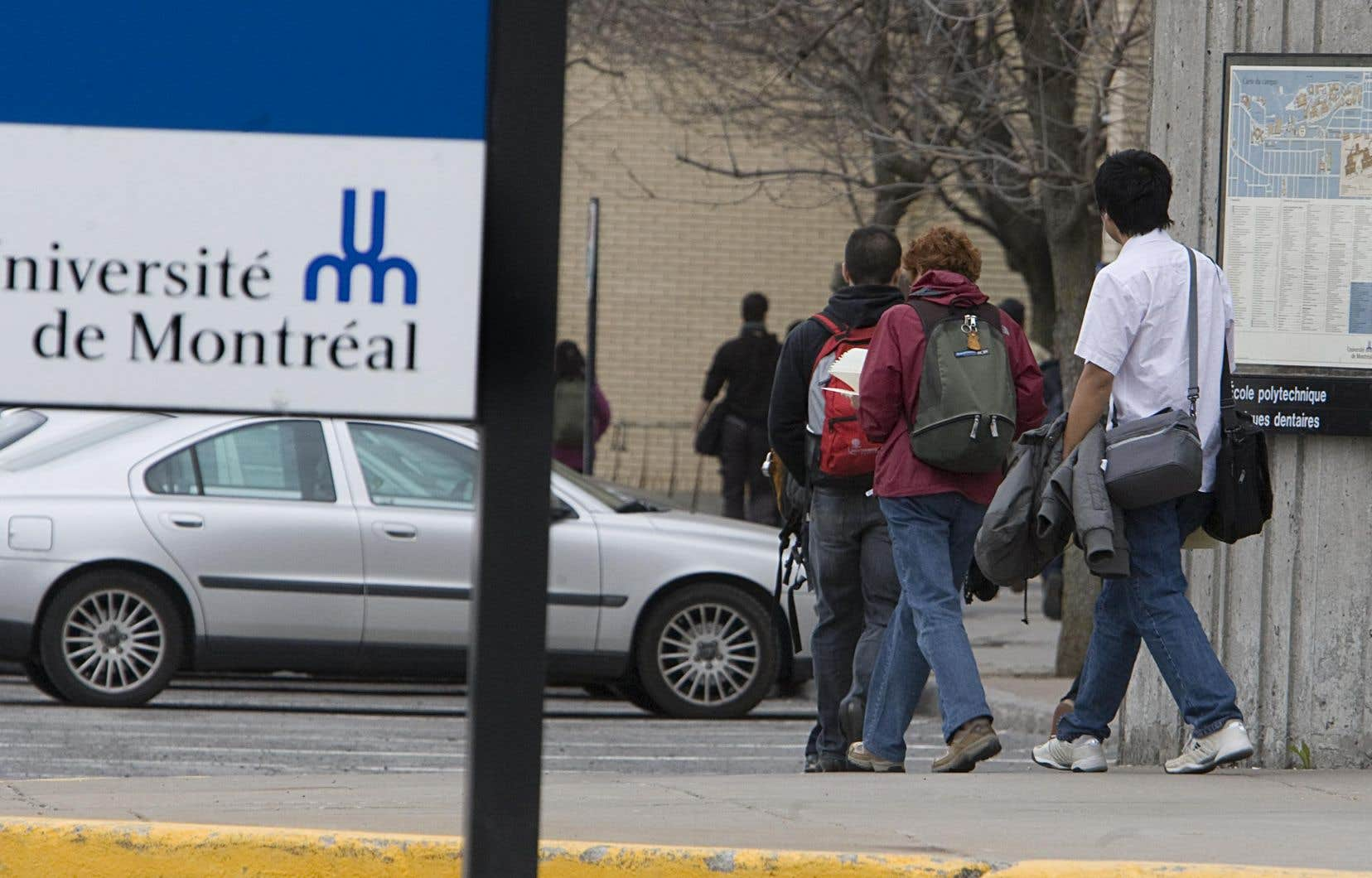 «À l'Université de Montréal, ce ne sont que 14% des programmes d'études qui sont désormais inclus dans la nouvelle liste de formations admissibles au PEQ», soulignent les auteurs.