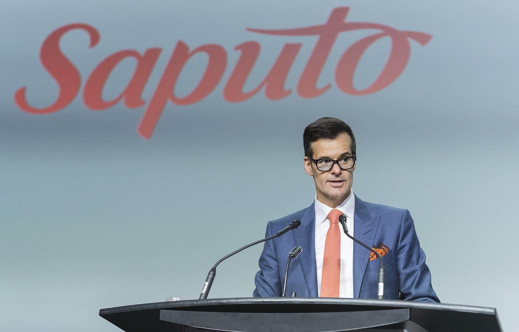 Le président et chef de la direction de la société, Lino Saputo fils