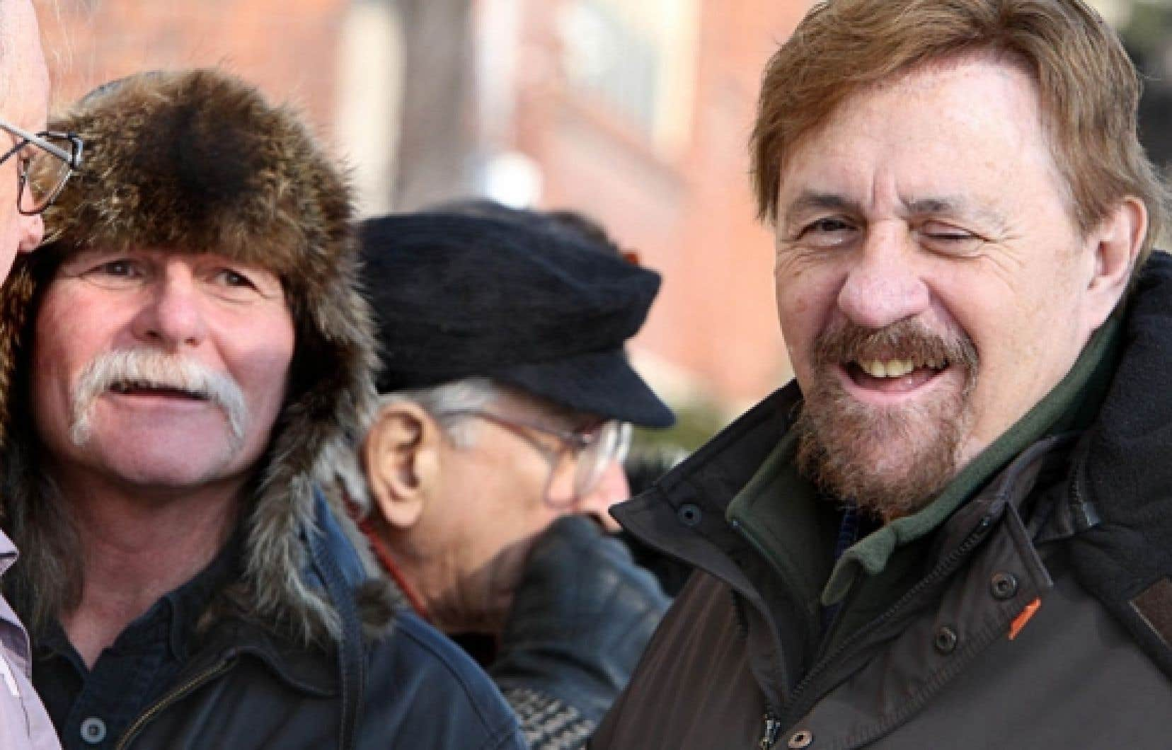 Jacques Rose (à gauche) et son frère Paul, deux des acteurs principaux de la Crise d'octobre<br />