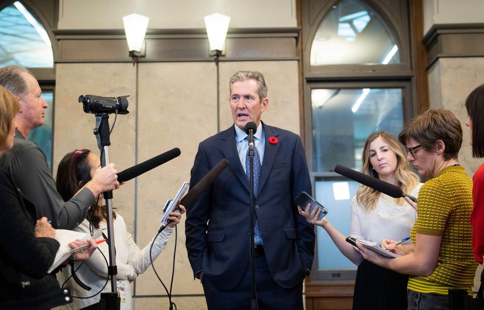 Le premier ministre manitobain, Brian Pallister, était de passage à Ottawa pour rencontrer son homologue fédéral, Justin Trudeau.