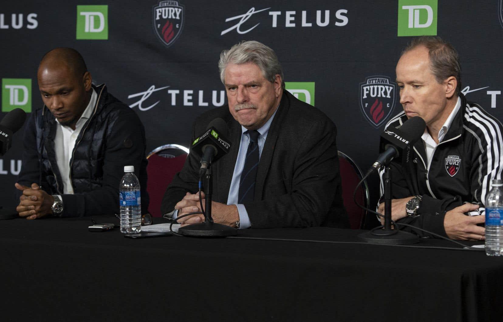 Les responsables de l'équipe annoncent la suspension des opérations de l'équipe pour la saison 2020 à Ottawa, le 8 novembre.