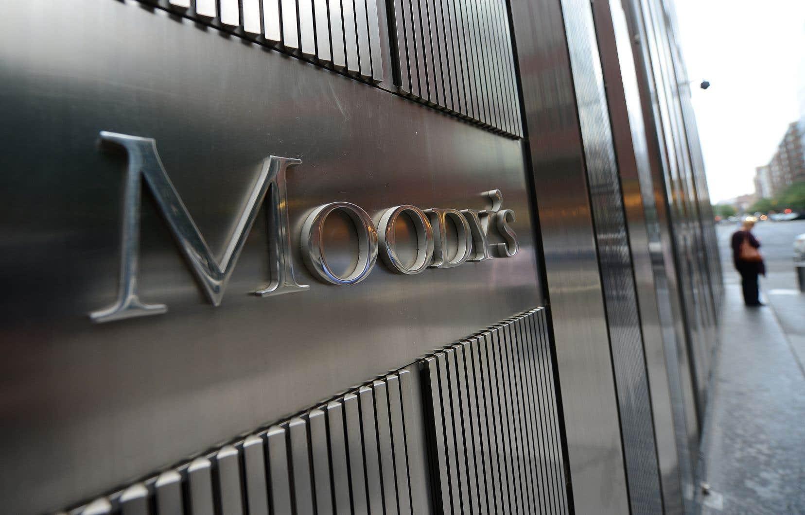 Plus pessimiste, Moody's a également ramené à 2,6% ses prévisions de croissance mondiale cette année et l'an prochain, contre 3% en 2018.