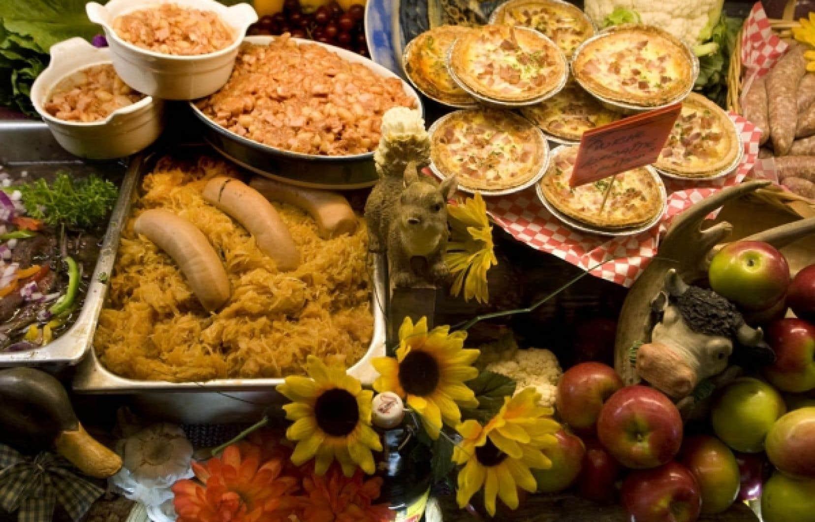 La choucroute et la quiche lorraine sont des exemples de mets rassurants et remplis de chaleur à mettre sur la table les jours froids d'automne. <br />