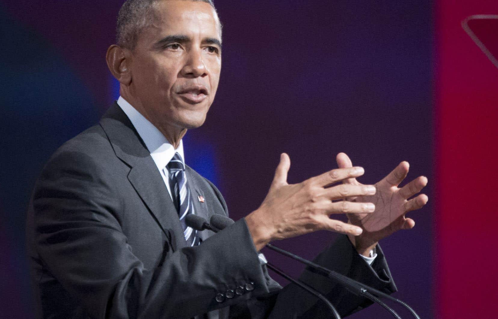 Barack Obama était venu à Montréal en juin 2017. Quelques 6000 personnes avaient alors rempli le Palais des congrès.