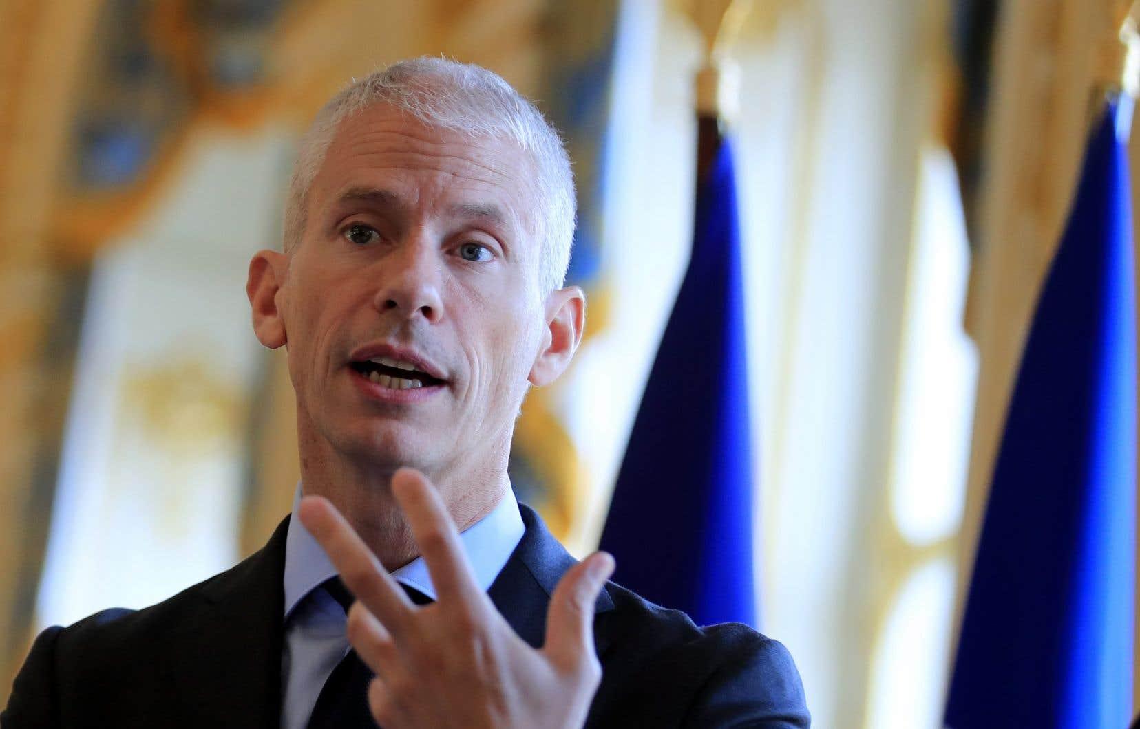 Le ministre français de la Culture, Franck Riester