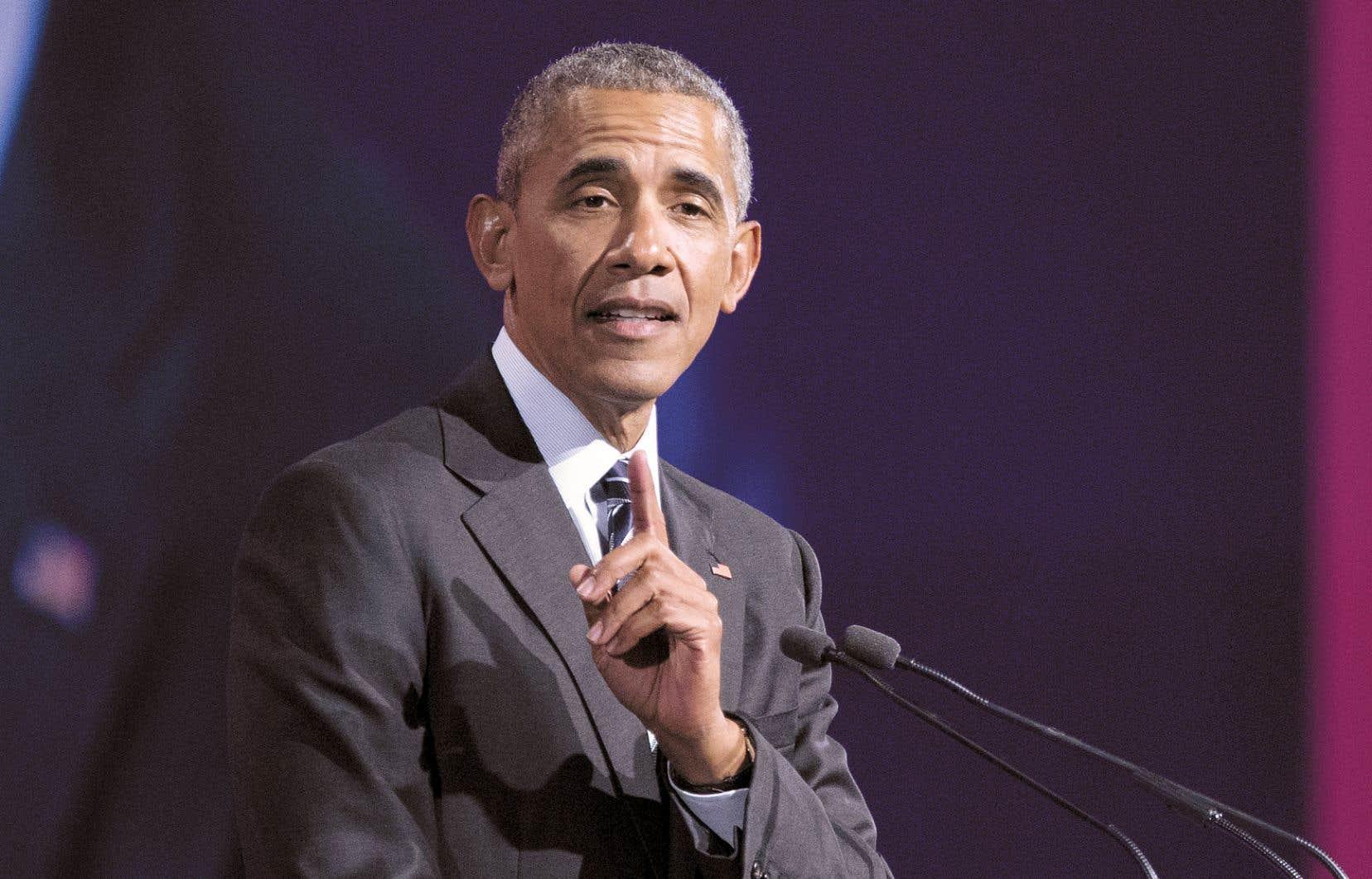 Barack Obama lors d'un précédent passage à Montréal, en juin 2017