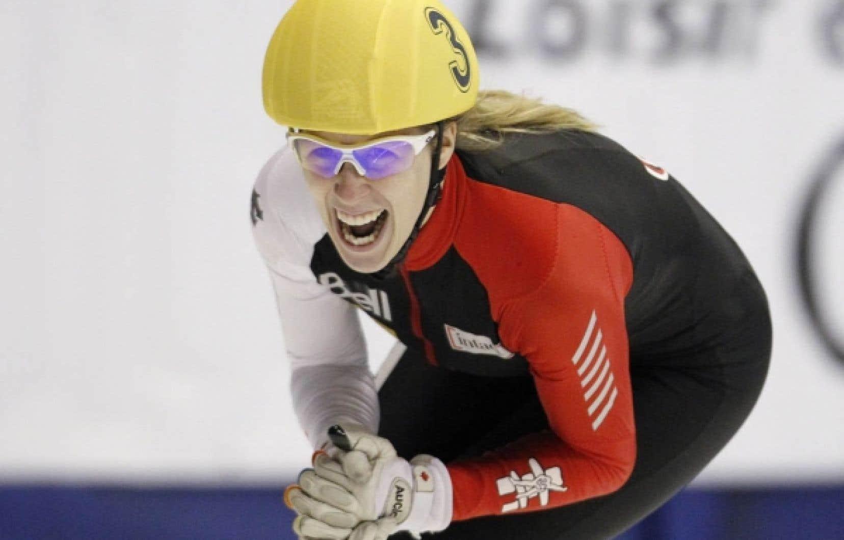 Marianne St-Gelais: le sourire de la victoire.<br />