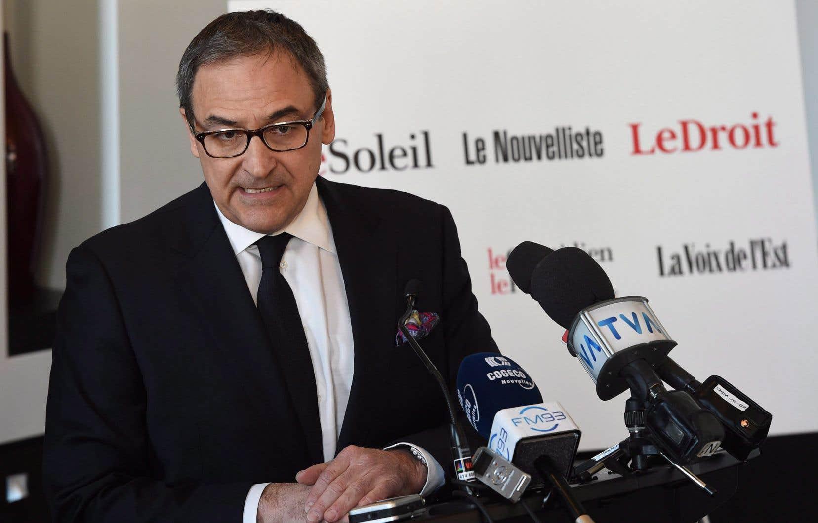 «Au moment de l'acquisition des six journaux par Martin Cauchon en 2015, le déficit était de 52 millions de dollars», affirment les auteurs.