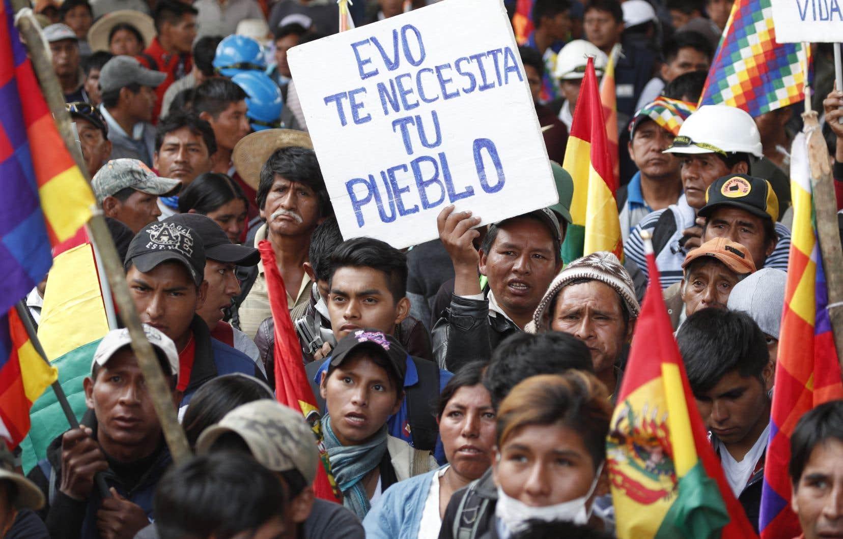 Des heurts émaillent les manifestations qu'organisent chaque jour les partisans d'Evo Morales.