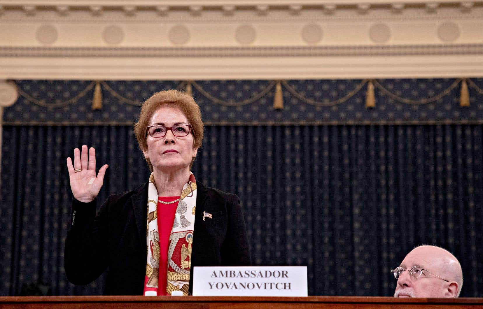 L'ancienne ambassdrice des États-Unis en Ukraine,Marie Yovanovitch