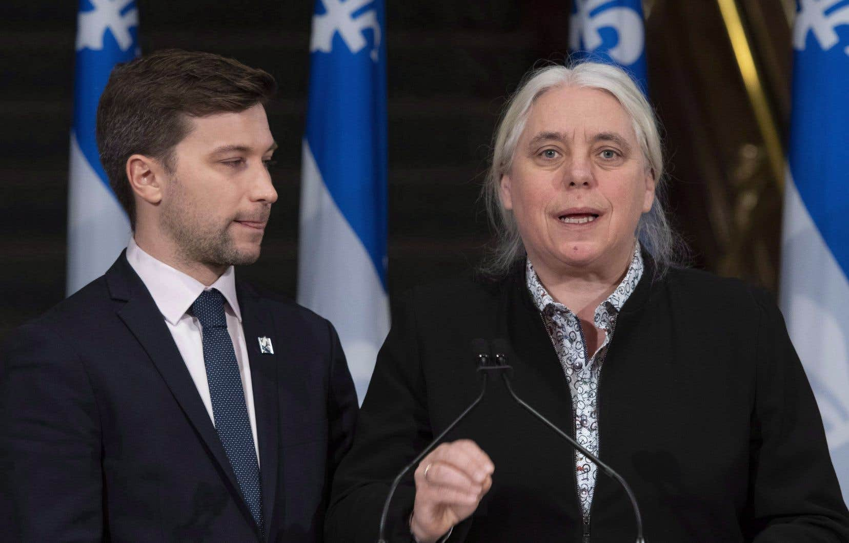 Gabriel Nadeau-Dubois et Manon Massé, co-porte-paroles de Québec solidaire