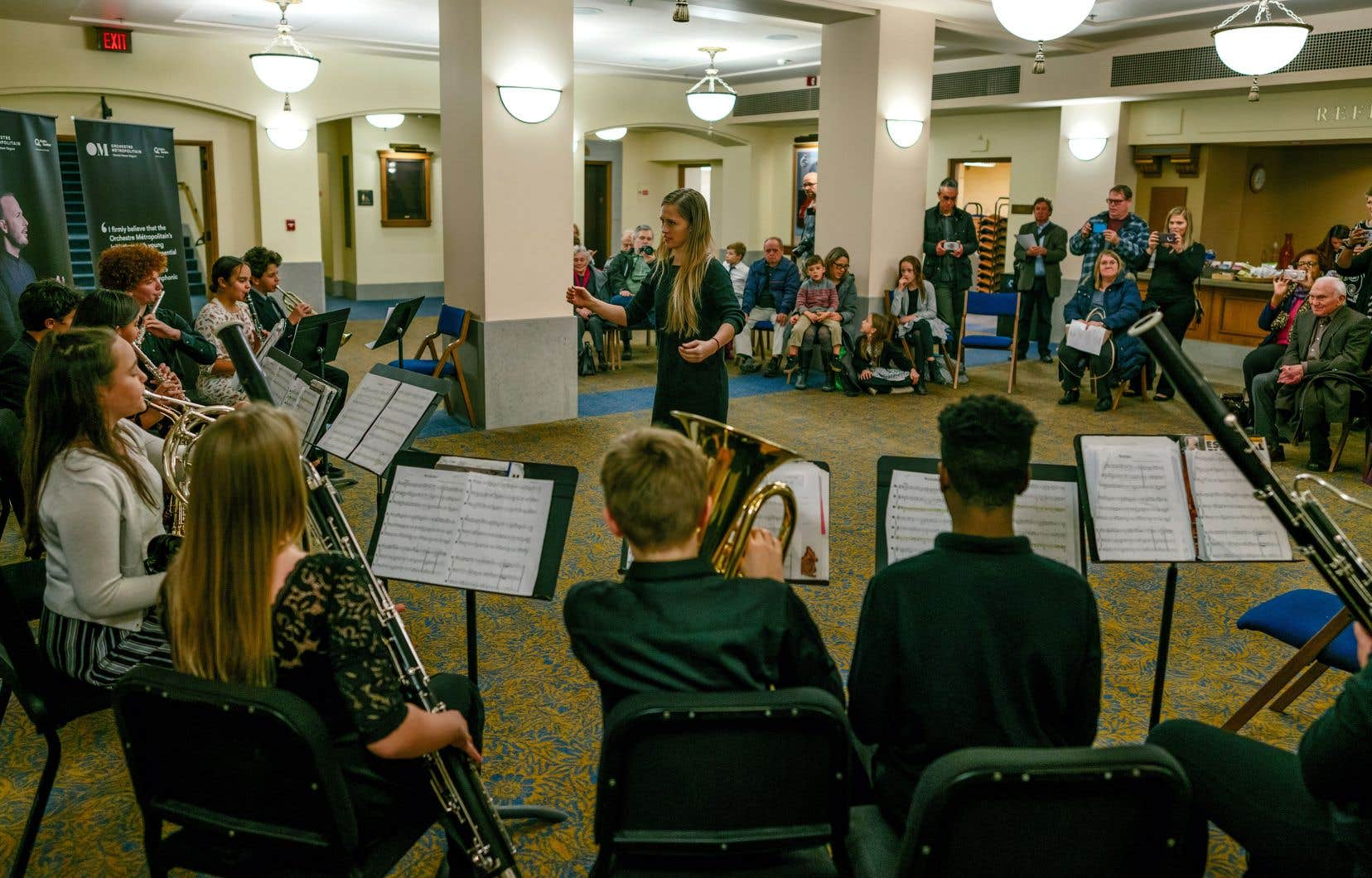 À Ann Arbor, l'habituelle prestation de 15 minutes a été prolongée à 30 minutes et trois groupes de trois classes d'âges différents se sont produits.