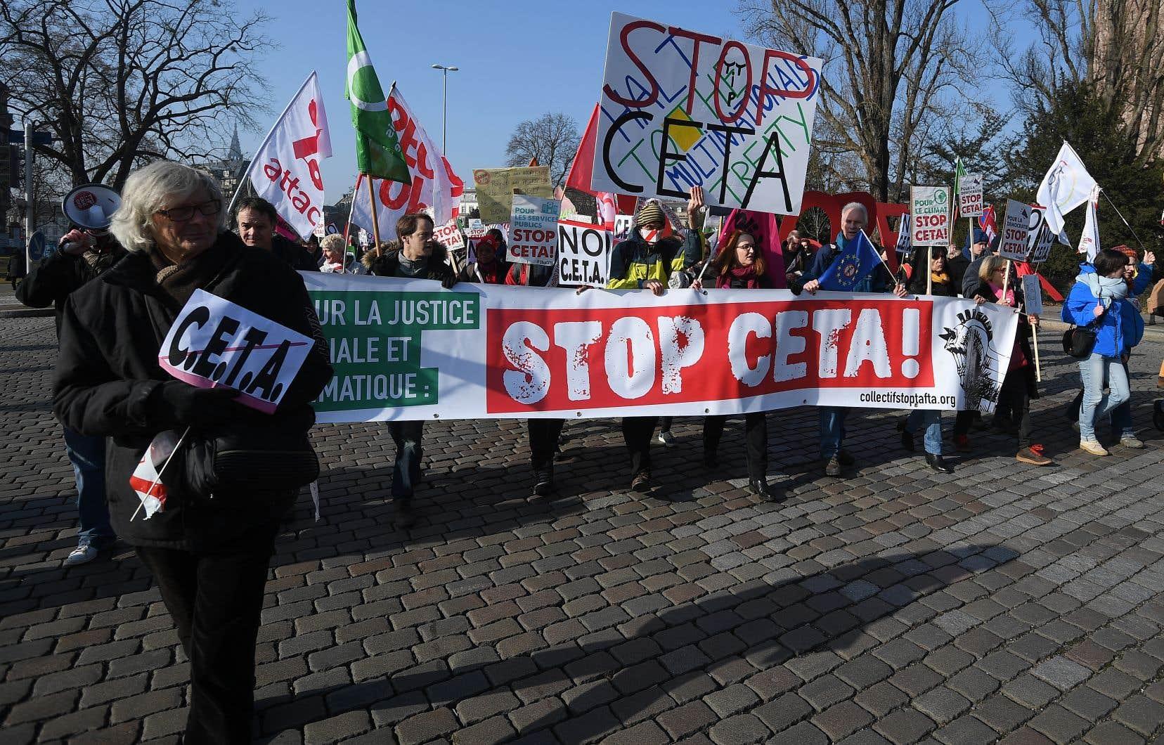 L'AECG (CETA) a suscité beaucoup d'opposition en Europe.
