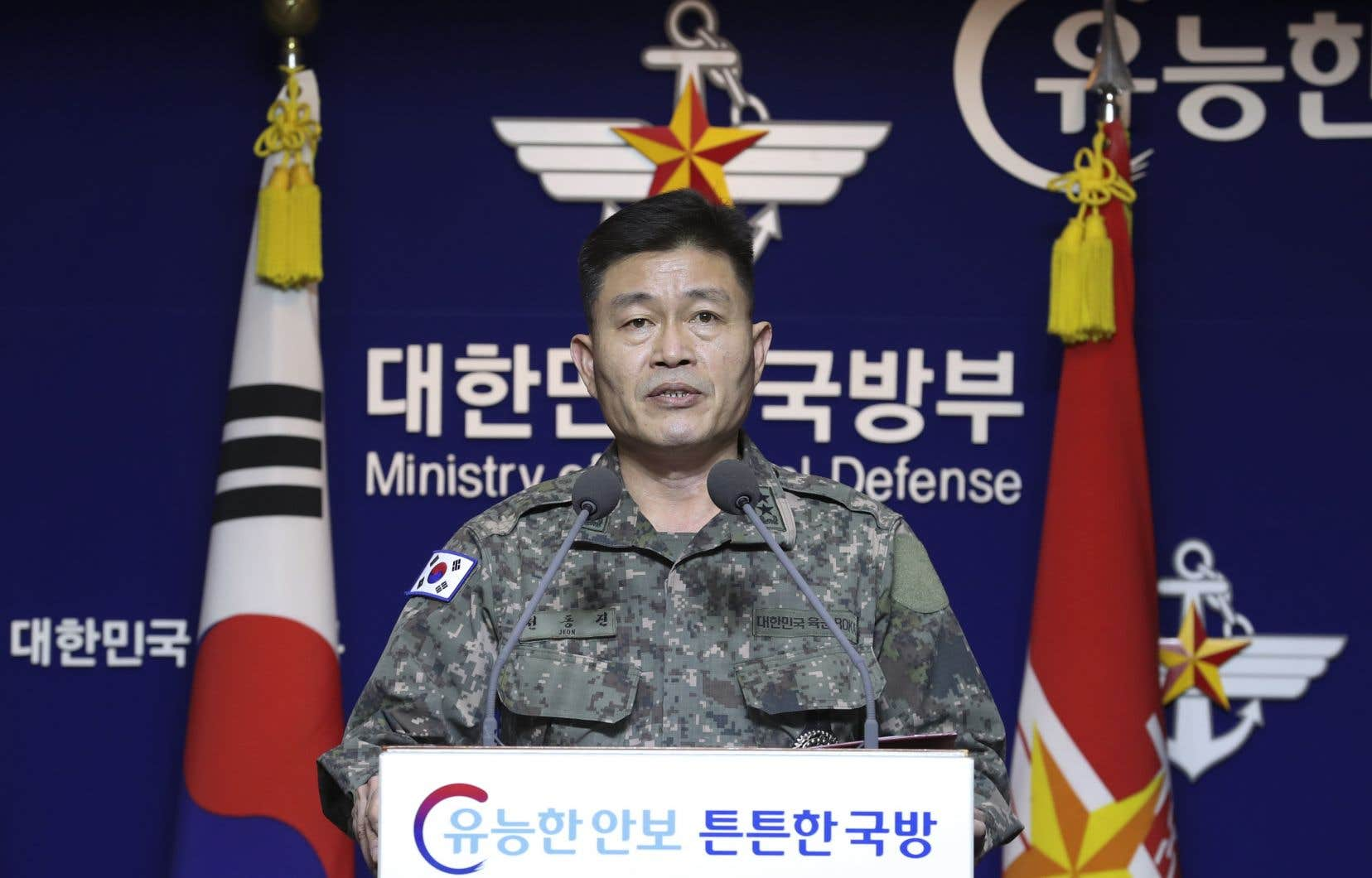 <p>Deux projectiles ont été tirés en direction de l'est depuis la province du Hamgyong du Sud et sont tombés dans la mer du Japon, a indiqué l'état-major sud-coréen dans un communiqué.</p>