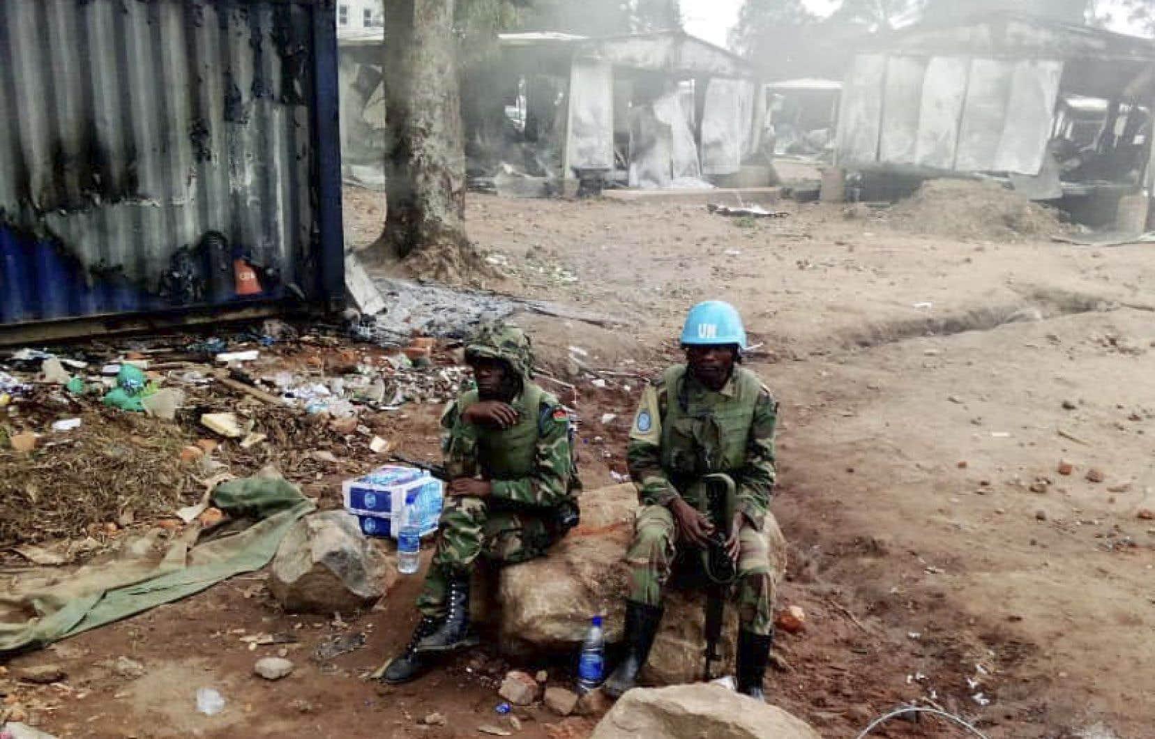 Ces tueries en série ont provoqué la colère des habitants contre les Casques bleus de l'ONU, qu'ils accusent de passivité.