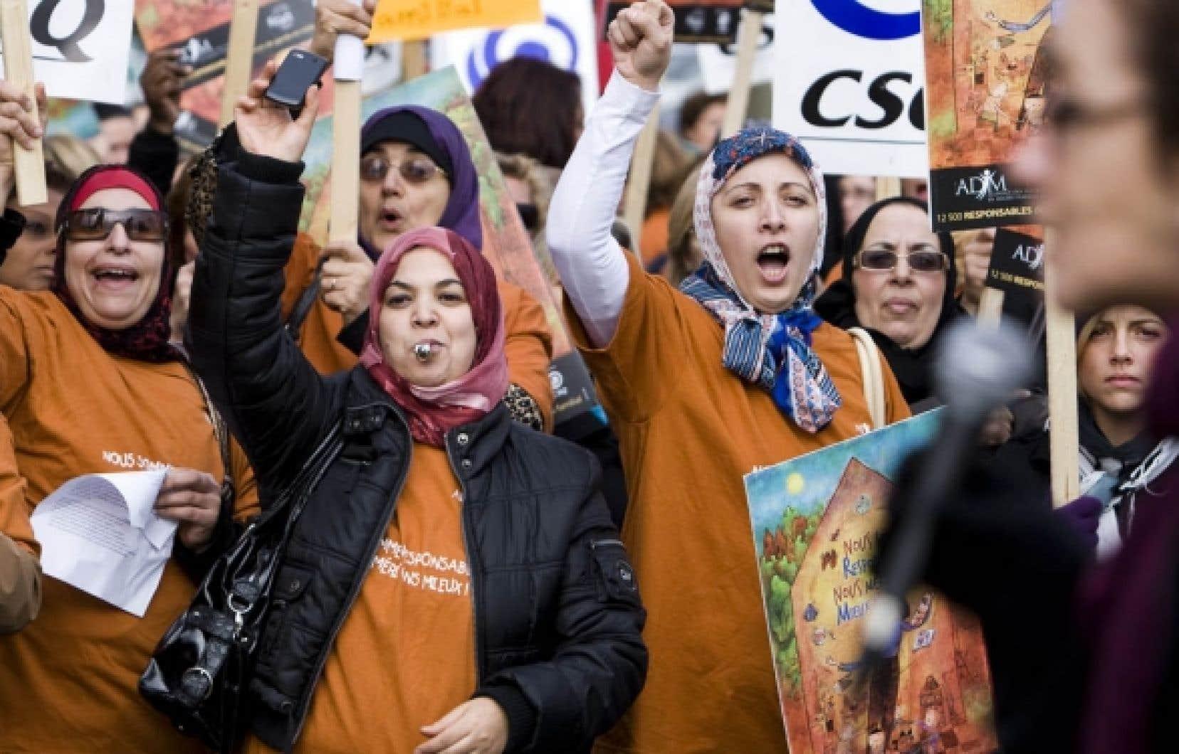La série de grèves tournantes d'une demi-journée dans les garderies en milieu familial a notamment touché, hier, les régions de Montréal, de la Montérégie et de Laval.