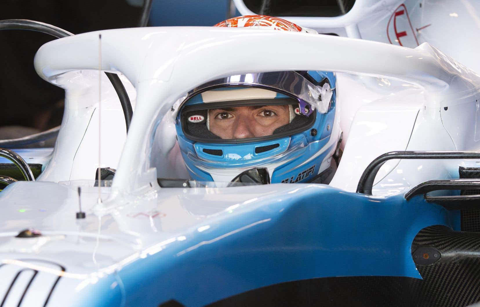 Nicholas Latifi lors d'essais libres avec Williams à Montréal en juin dernier
